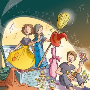 Hansel & Gretel, opéra-bonbon. (Illustration: Lorraine Beaudoin)