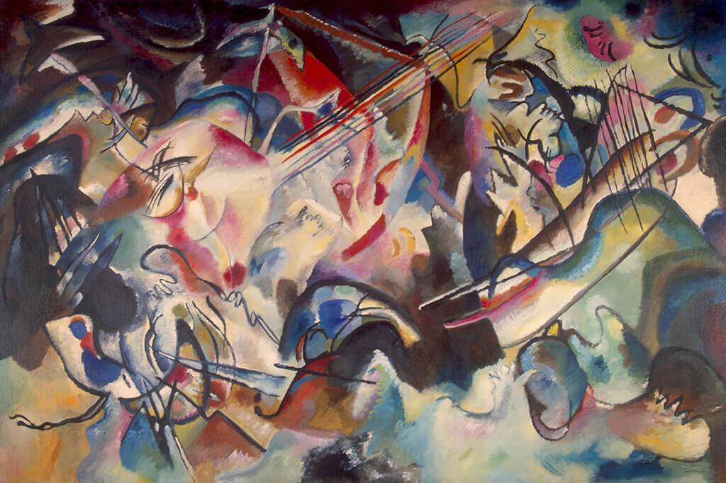 Vassili Kandinsky, Composition VI, 1913 Huile sur toile, Musée de l'Ermitage, Saint-Pétersbourg