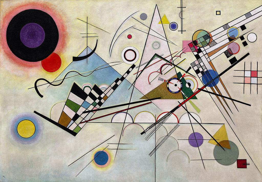 Vassili Kandinsky Composition VIII 1923 Huile sur toile (140 X 201 cm) Solomon R. Guggenheim Museum, New-York