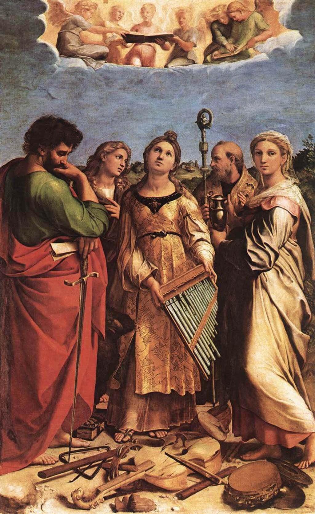 Cecilia Raphael Altarpiece, Raphael c. 1516-17