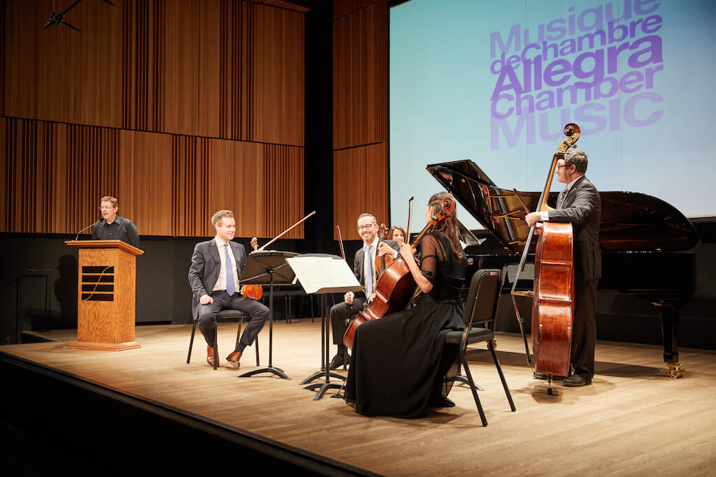 Musique de chambre Allegra : Simon Aldrich, Alexander Lozowski, Pierre Tourville, Dorothy Fieldman Fraiberg, Sheila Hannigan et Reuven Rothman