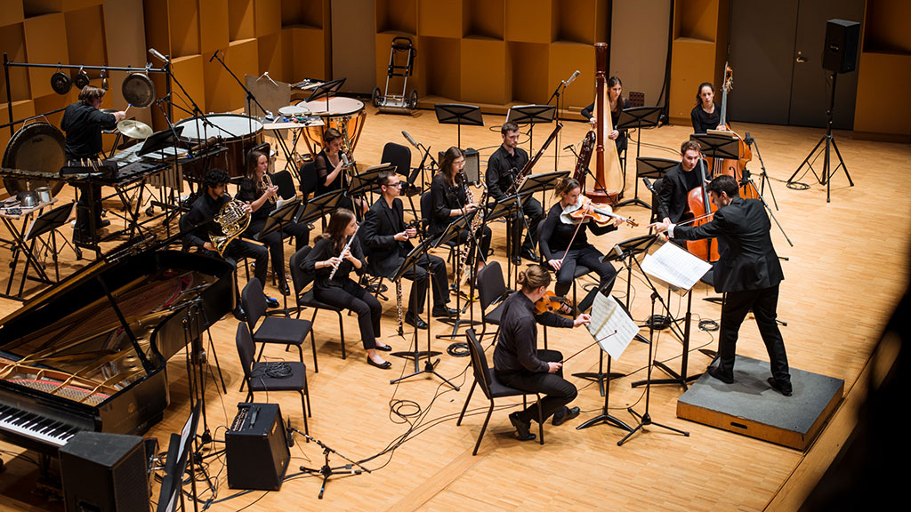 L'Ensemble de musique contemporaine de McGill. (Crédit: Tam Lan Truong)
