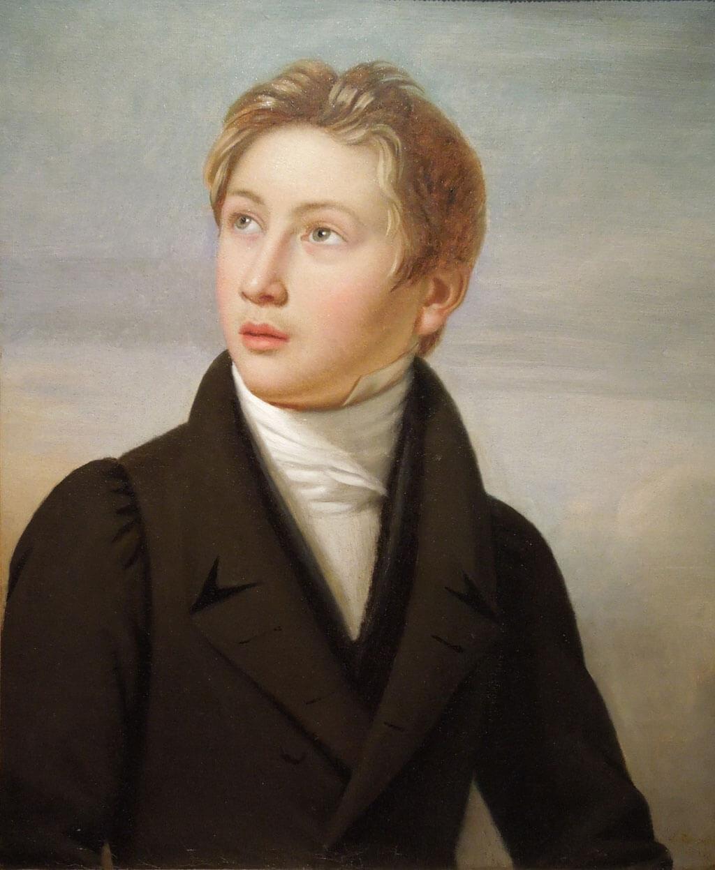 Liszt, by J. Vignaud, 1826