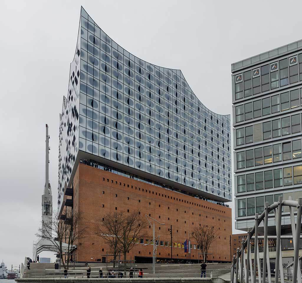 La Philharmonie de l'Elbe (Elbphilharmonie), Hambourg. (Crédit: François Goupil)