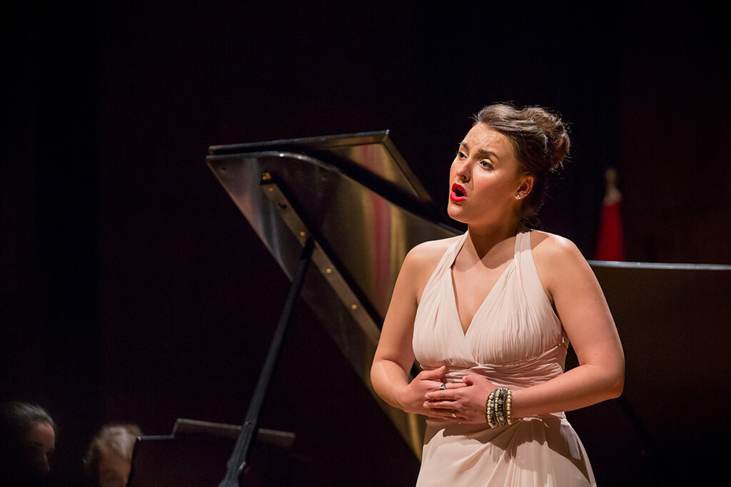 La soprano France Bellemare, lauréate du 3e prix et du prix de la meilleure artiste canadienne et québécoise au CMIM, en 2015. (Photo: courtoisie)