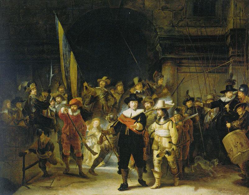 La Ronde de nuit, copie de Gerrit Lundens, National Gallery.