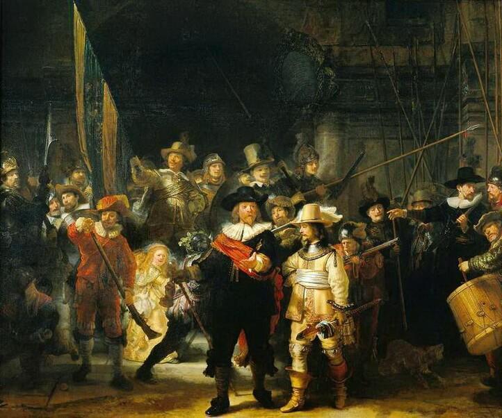 La Ronde de nuit, de Rembrandt, Rijksmuseum, Amsterdam.