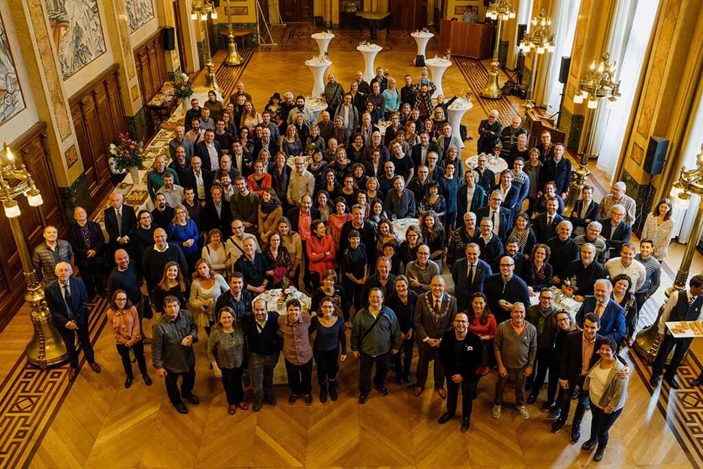 Visite de l'OM à l'hôtel de ville de Rotterdam. (Crédit: François Goupil)