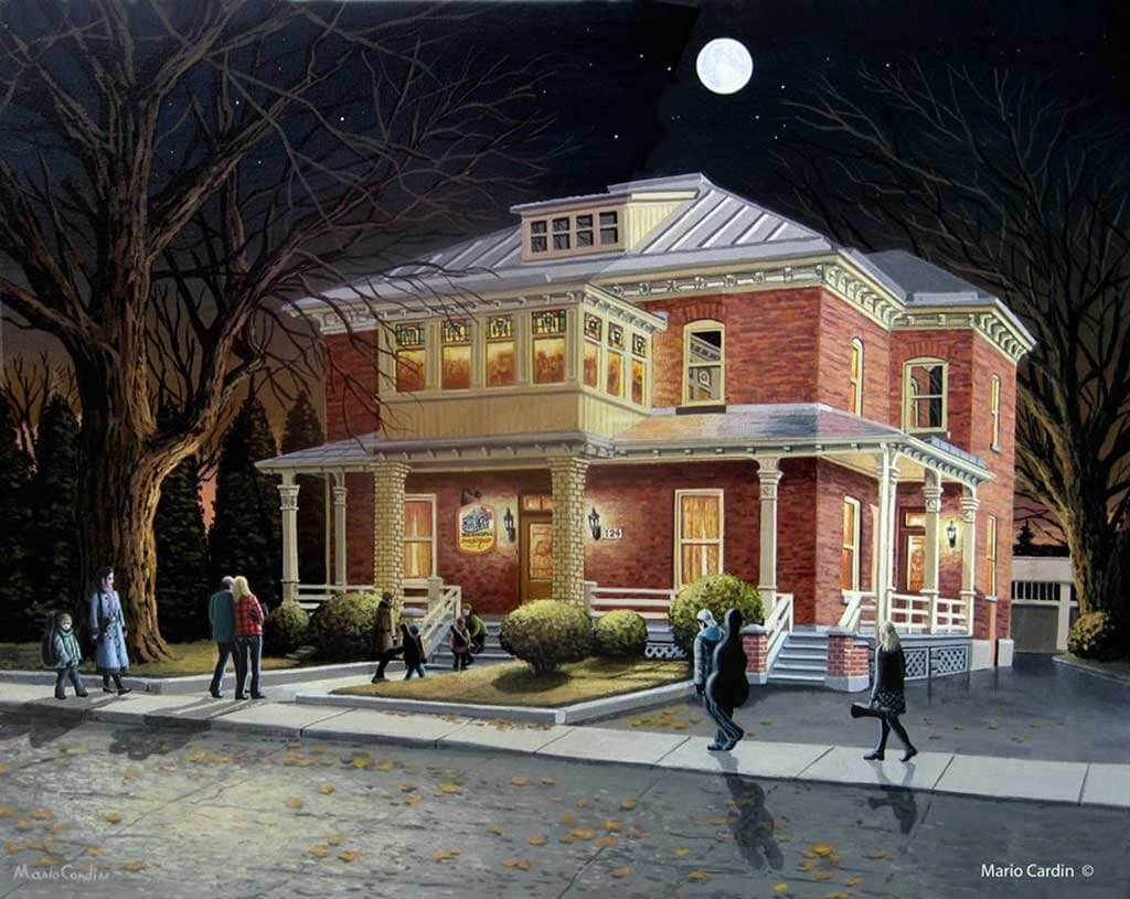 La Maison de la musique de Sorel-Tracy. (Photo: toile de l'artiste-peintre Mario Cardin)