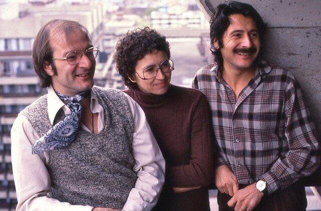 Claude Vivier, Lorraine Vaillancourt et José Evangelista dans les années 1970. (Photo: courtoisie)