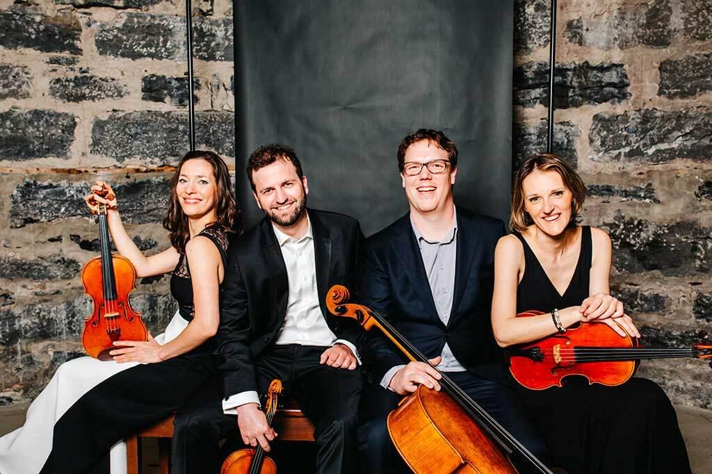Le quatuor Vox Populi (Crédit: Vivian Doan)