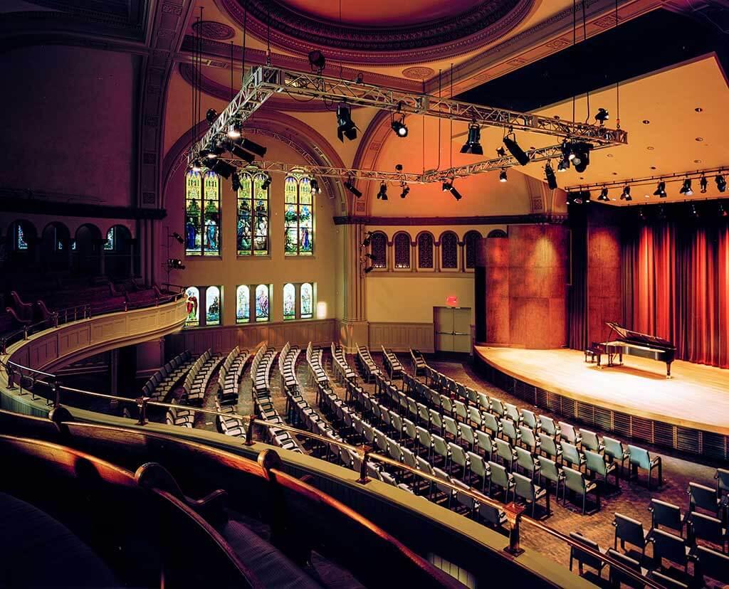 La Fondation Arte Musica présentera 105 concerts à la salle Bourgie en 2018-2019. (Crédit: Bernard Fougère)
