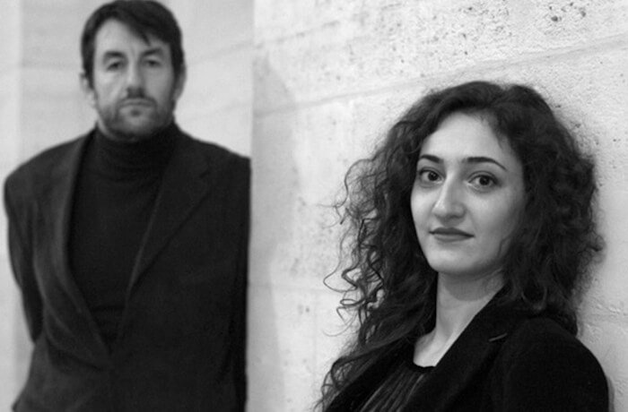 la pianiste Hélène Tysman et le comédien Damien Luce dans Ce qu'a vu le vent d'ouest