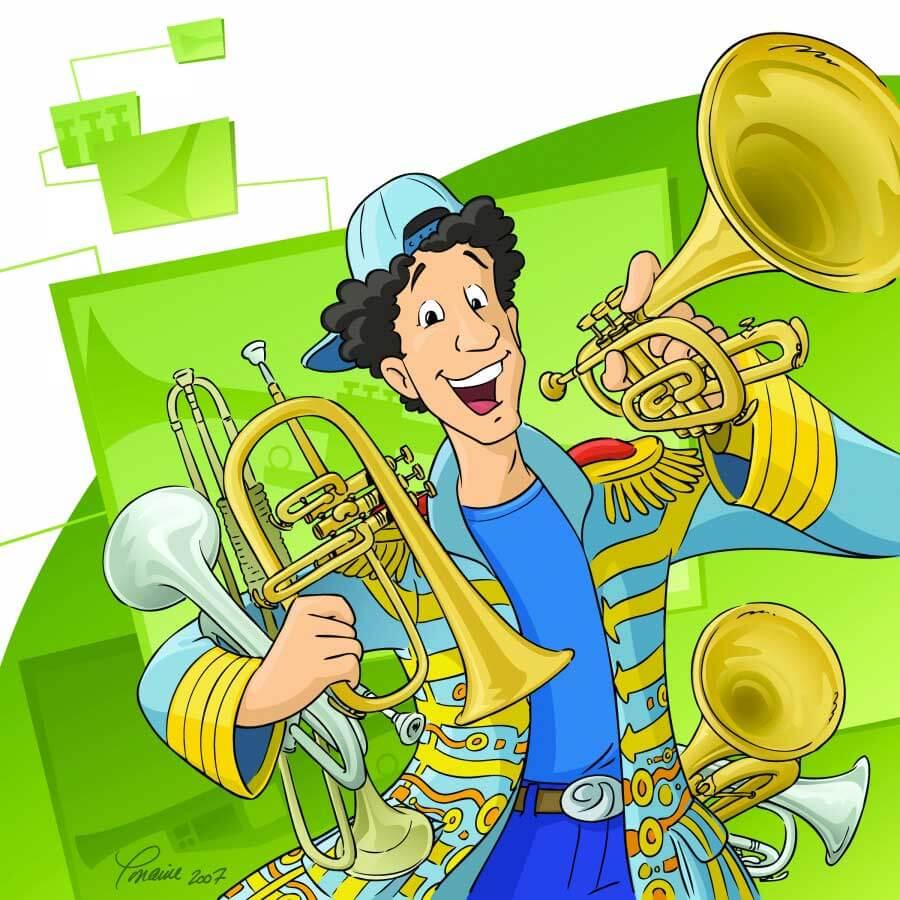 Le spectacle musical pour enfants Les 7 trompettes de Fred Piston sera présenté pour la dernière fois cette année. (Illustration: Lorraine Beaudoin)