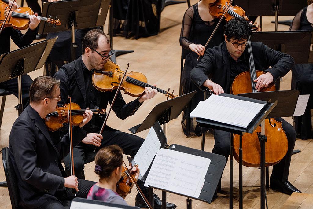 Le Quatuor Molinari en concert avec l'Orchestre Métropolitain, le 20 avril 2018. (Crédit: François Goupil)