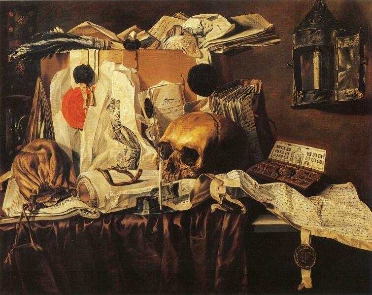 Vanité de N.L Peschier (1660) - Collection du Musée des beaux-arts de Montréal.