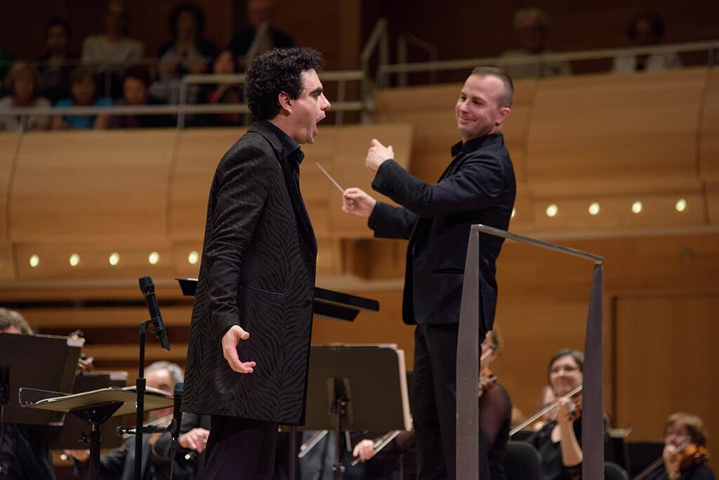 Rolando Villazón et Yannick Nézet-Séguin (Photo : François Goupil)