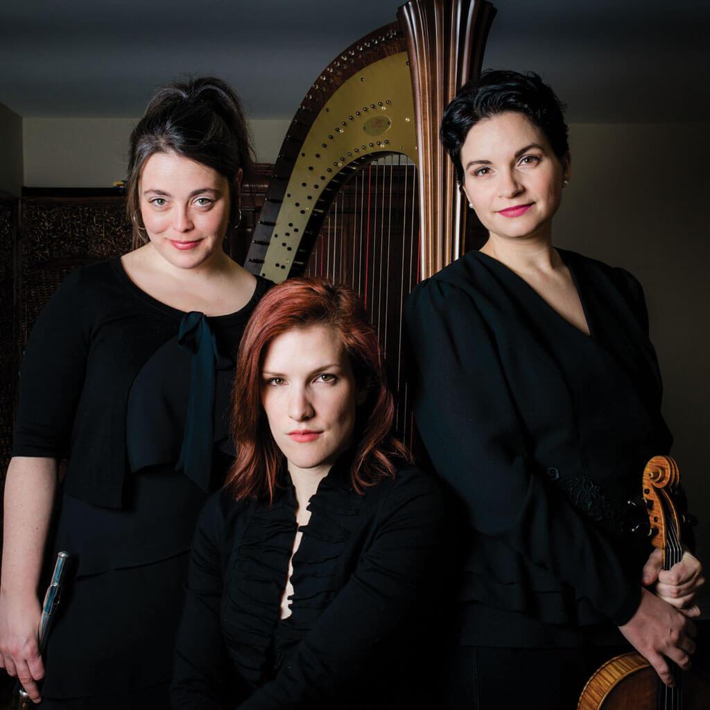 Jocelyne Roy, Marina Thibeault et Valérie Milot. (Photo: courtoisie d'Orford Musique)