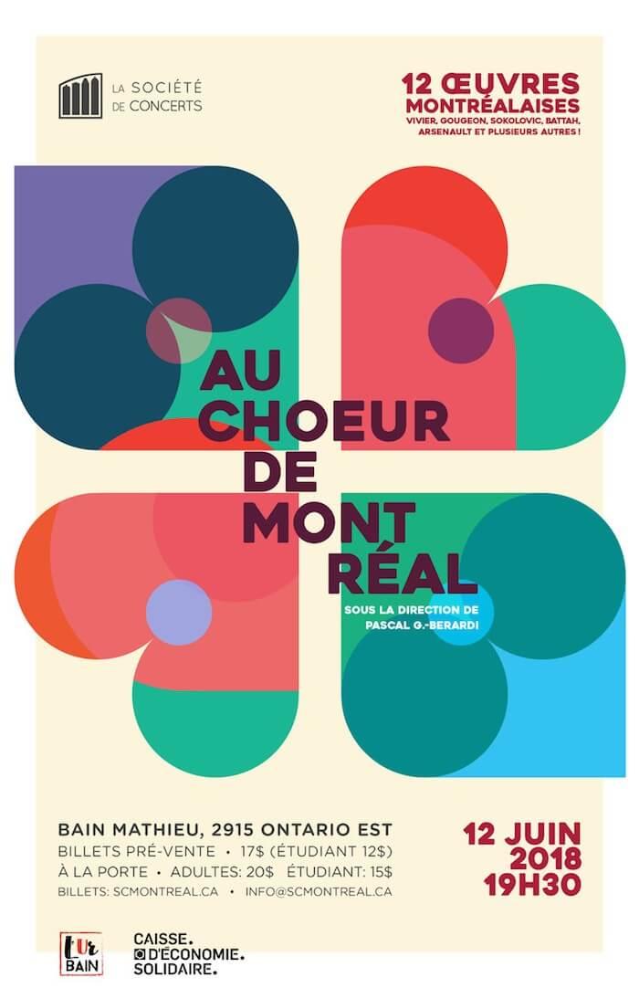 Affiche Au choeur de Montreal