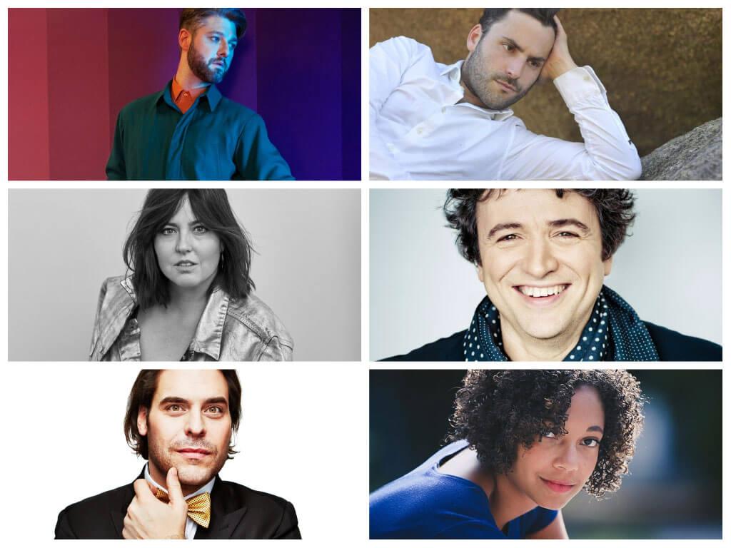 Montage de : Pierre Lapointe, Jean-Philippe Sylvestre, Ariane Moffat, Alain Trudel, Jean-Marie Zeitouni, et Cécile Muhire
