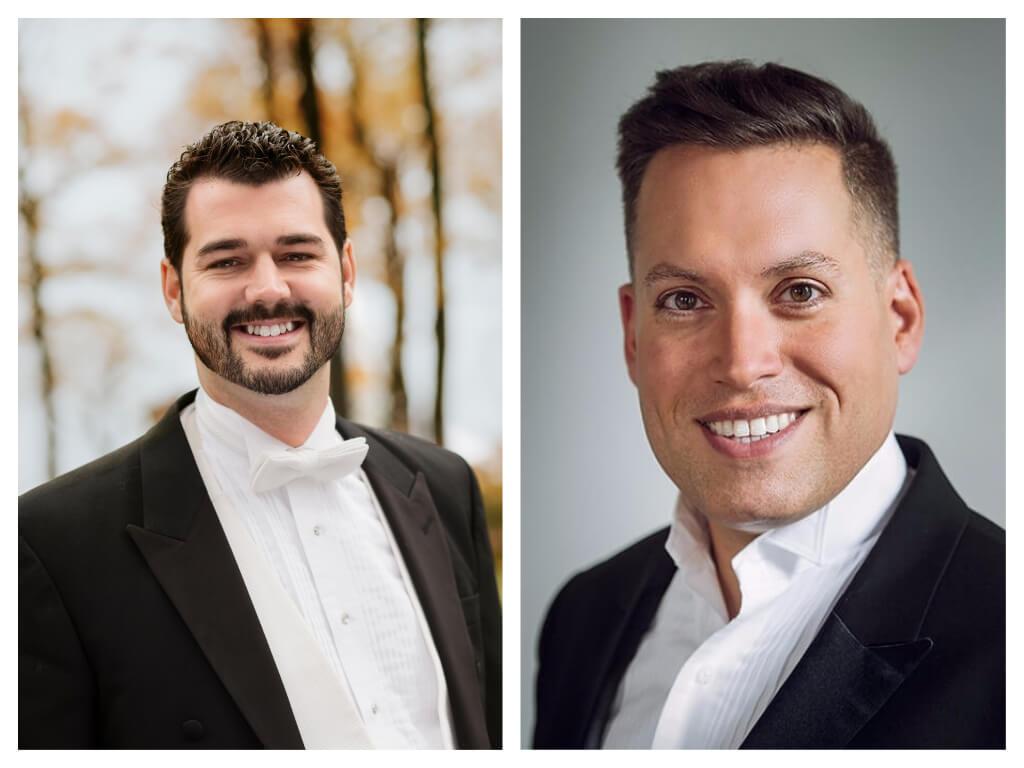 Philippe Bourque, directeur artistique du Chœur St-Laurent, et Jean-Sébastien Vallée, directeur artistique de la Société chorale d'Ottawa. (Photos: courtoisie)