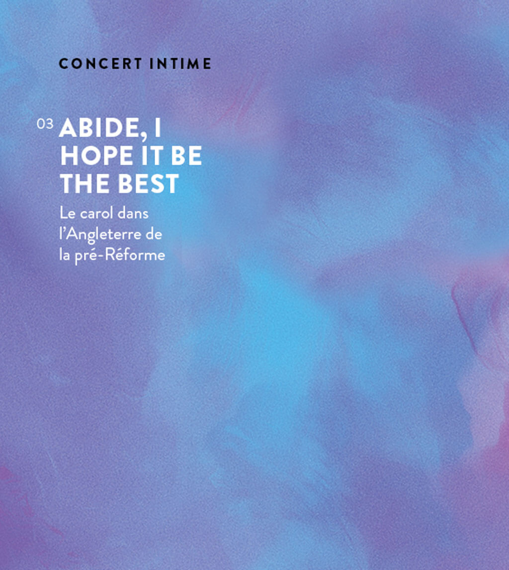 Abide, I hope it be the best