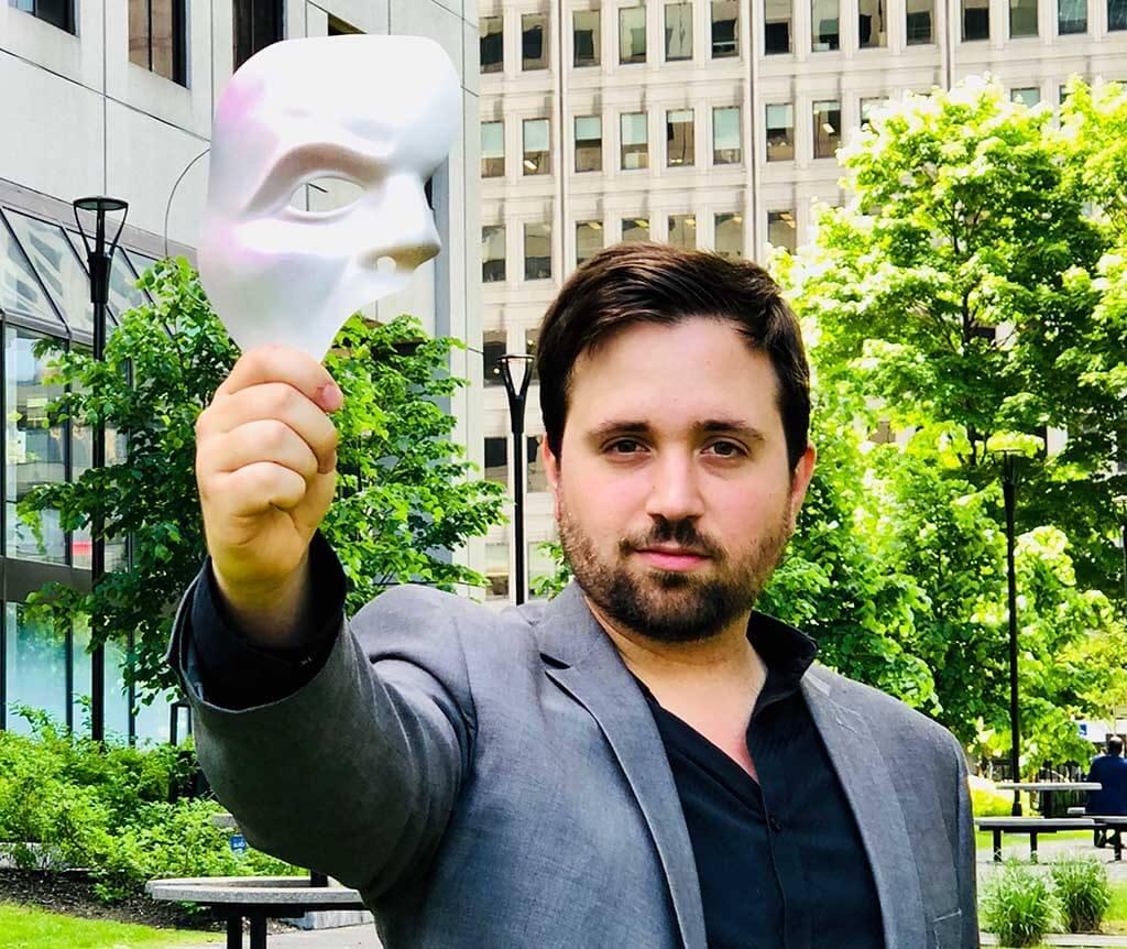 Hugo Laporte tiendra le rôle-titre dans Le Fantôme de l'opéra au Monument-national, les 13 et 14 juillet 2018. (Crédit: Alexis Pitkevicht)