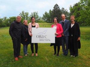 De gauche à droite: Clément Canac Marquis, Danielle Pineault, Marie Montpetit, Émilie Thullier, Mathieu Gaudet et Lucie Hamel. (Photo: courtoisie)