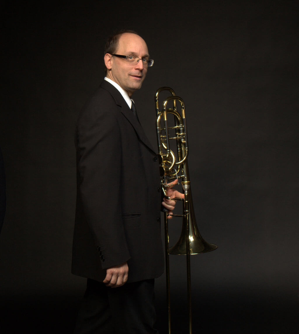 Pierre Beaudry, trombone-basse à l'OSM. (Photo: courtoisie de l'OSM)