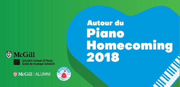 Retrouvailles de McGill : Autour du piano 2018