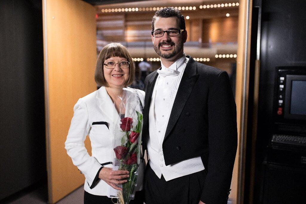 La compositrice Laryza Kuzmenko et Philippe Bourque. (Photo: courtoisie)