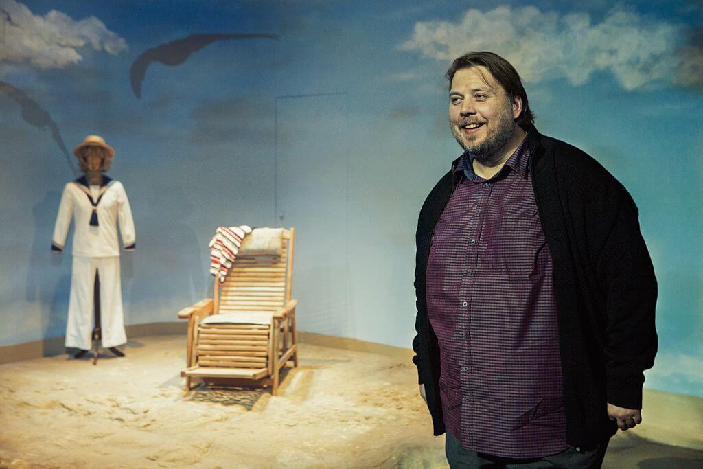 L'acteur Nicolas Bro dans une production théâtrale de La Mort à Venise à Copenhague, en 2016. (Photo: Thomas Petri)