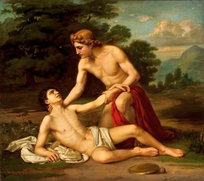 Tableau: La Mort de Hyacinthe, d'Alexandre Kisseliov, Musée national de Varsovie)