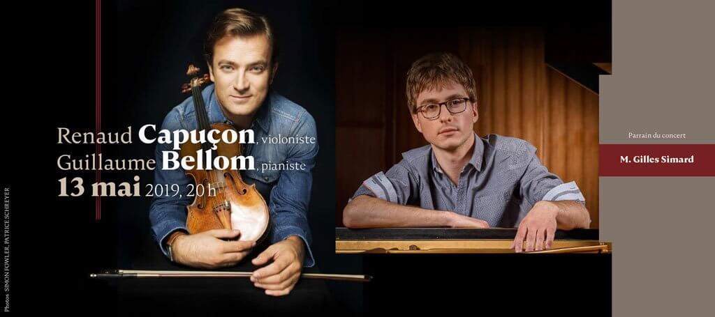 Club musical de Québec Renaud Capuçon Guillaume Bellom