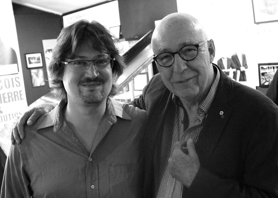 Vincent Bélanger en compagnie de François Dompierre. (Photo: page Facebook de l'artiste)