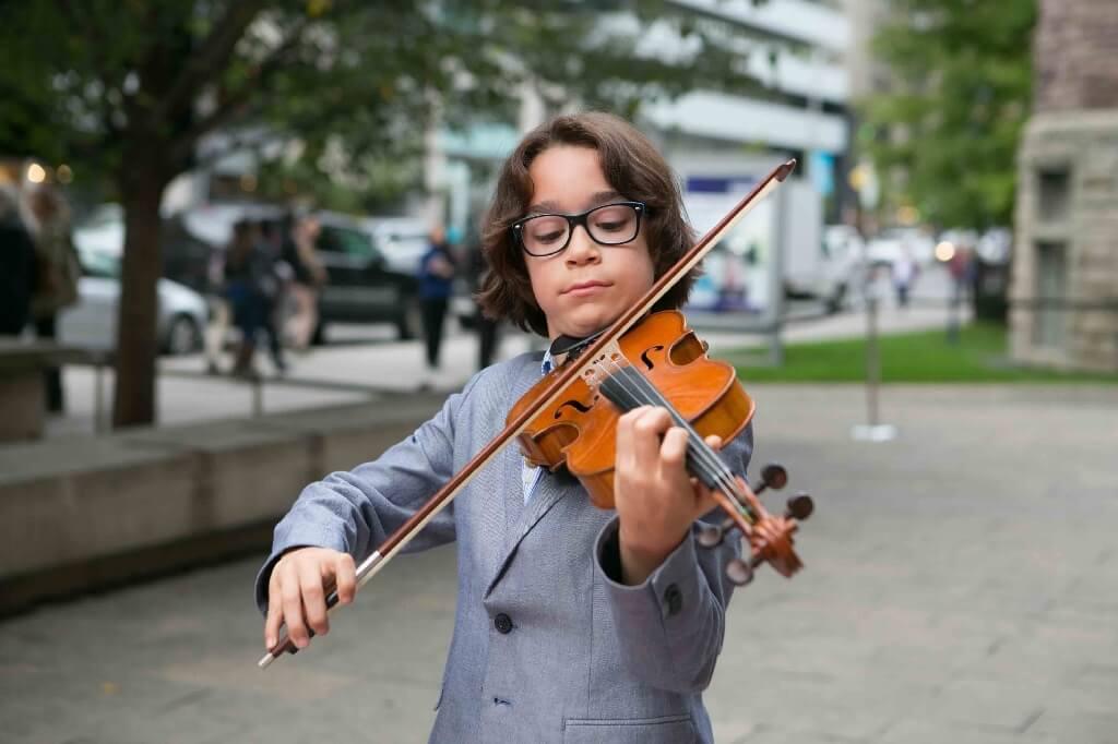 Emrik Revermann, 10 ans, participera à la vitrine Mini Violini du CMIM. (Photo: courtoisie du CMIM)