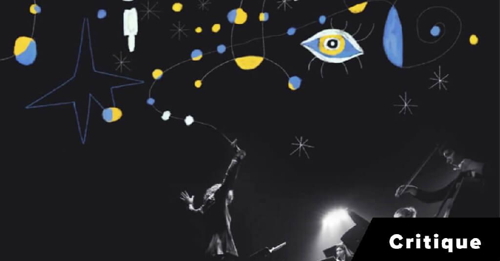 Sur scène, Véronique Lacroix dirige 12 musiciens de l'ECM+ et le violoniste virtuose Victor Fournelle-Blain au fil d'une trame vidéo projetant une quarantaine de chefs-d'œuvre picturaux parcourant les styles moderne, surréaliste et cubiste. (Photo: courtoisie)