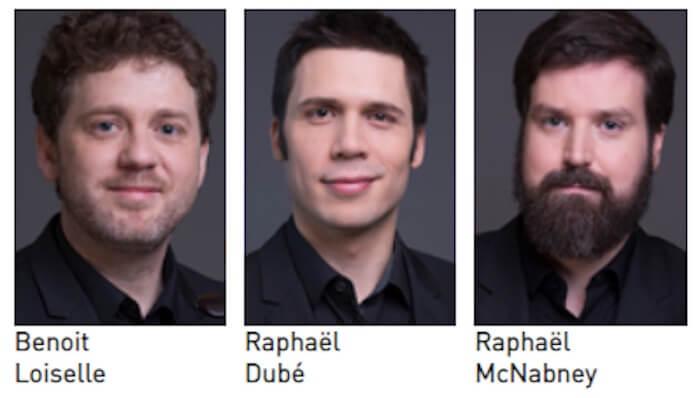 Benoit Loiselle, Raphaël Dubé, et Raphaël McNabney