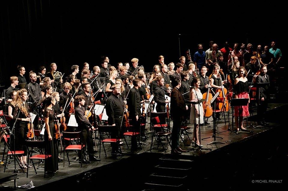 L'Orchestre de la Francophonie au Centre Pierre-Charbonneau, 25 juillet 2019. (Photo: Michel Pinault)