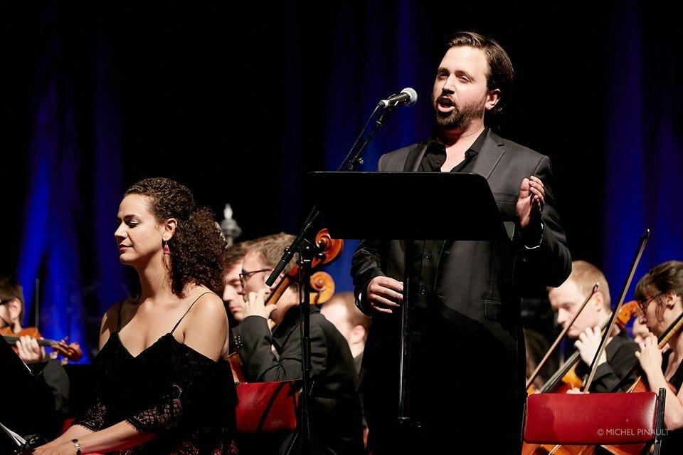 Rose Naggar-Tremblay et Hugo Laporte étaient de la distribution de West Side Story, présenté par l'Orchestre de la Francophonie aux Concerts populaires, le 25 juillet 2019. (Photo: Michel Pinault)