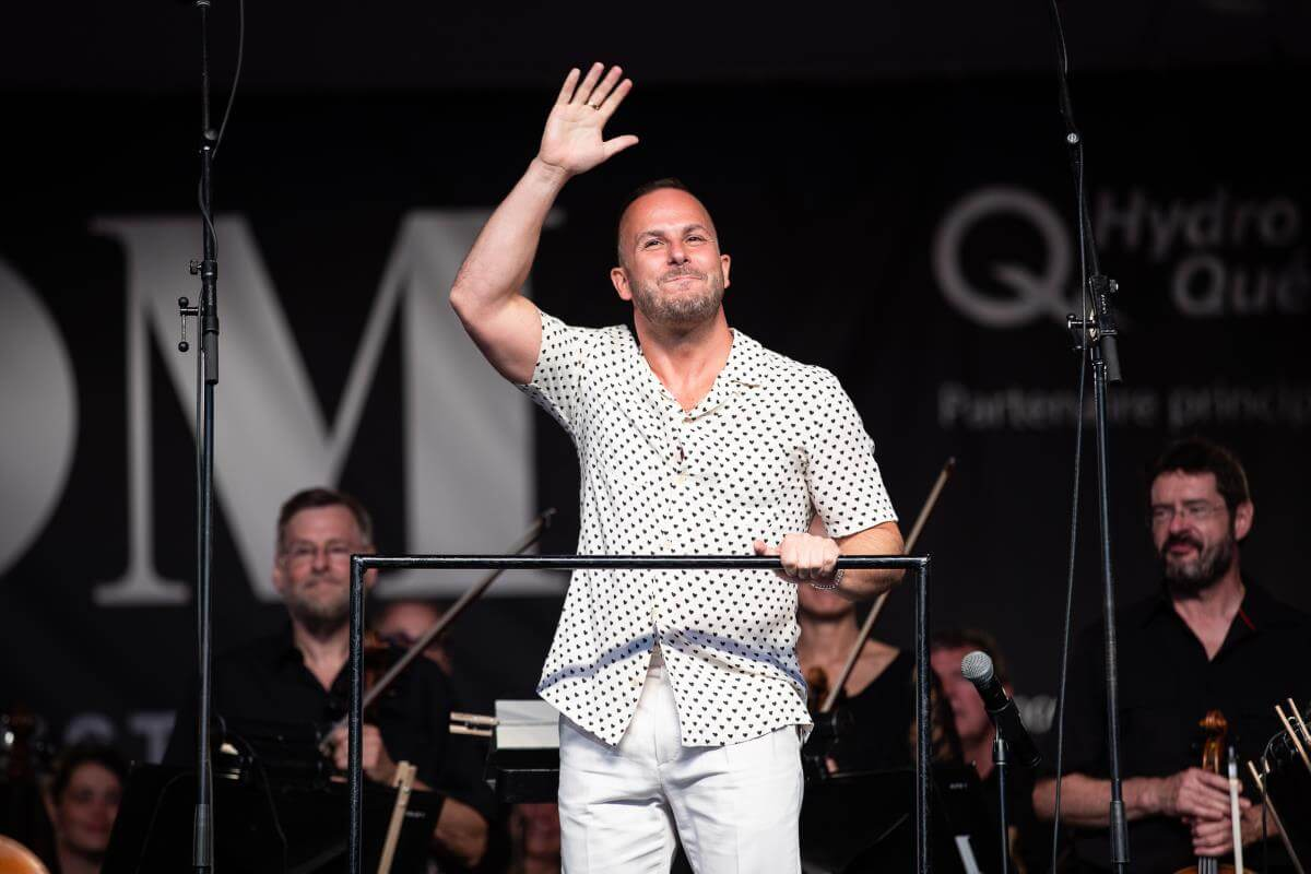 Yannick Nézet-Séguin, 25 juillet 2019, parc du Mont-Royal. (Photo: Marc-André Donato)