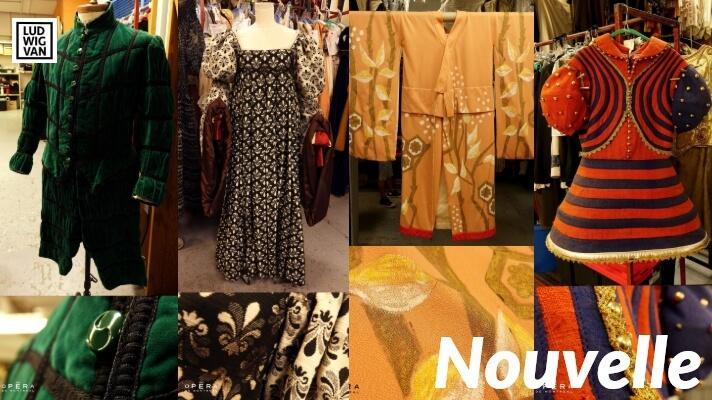 De gauche à droite: des pièces de collection en vente tirées d'anciennes productions d'Otello, de Rigoletto, de Madama Butterfly et du Comte d'Ory. (Photos: courtoisie de l'Opéra de Montréal)