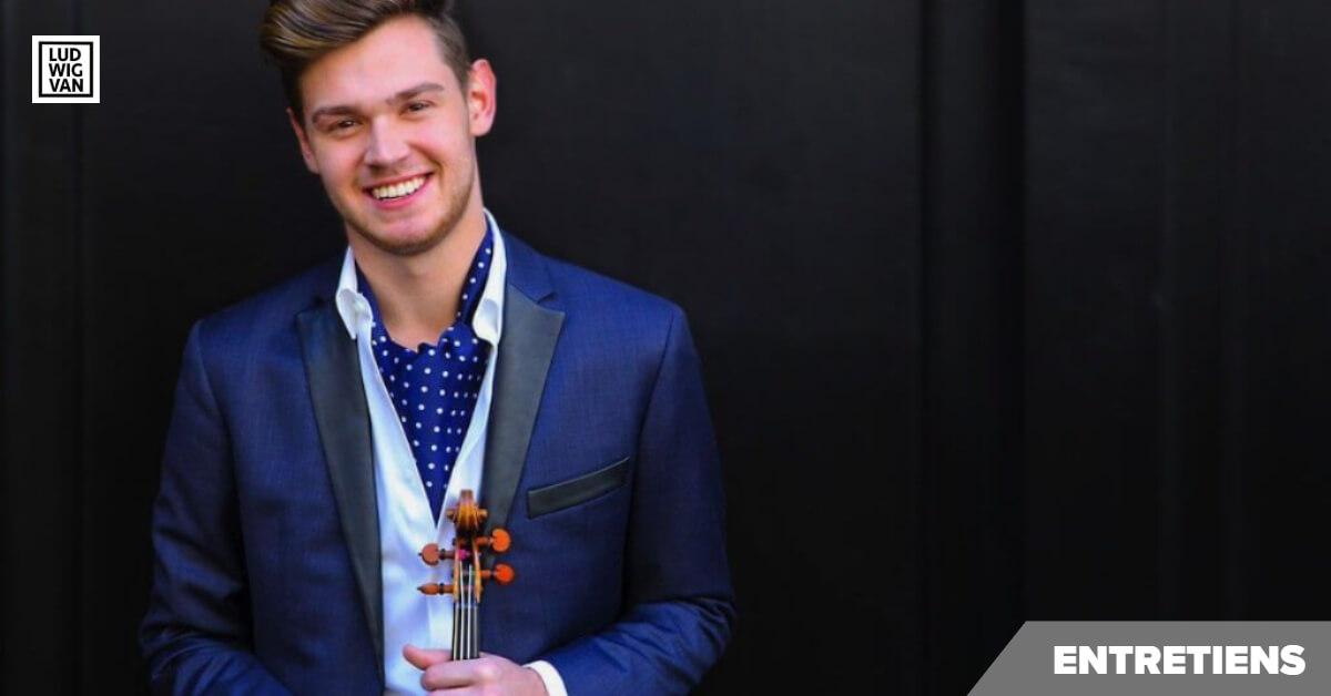 Le violoniste Blake Pouliot (Photo : Jeff Fasano)