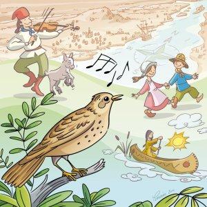 Le Chant de l'alouette (Illustration : Lorraine Beaudoin)