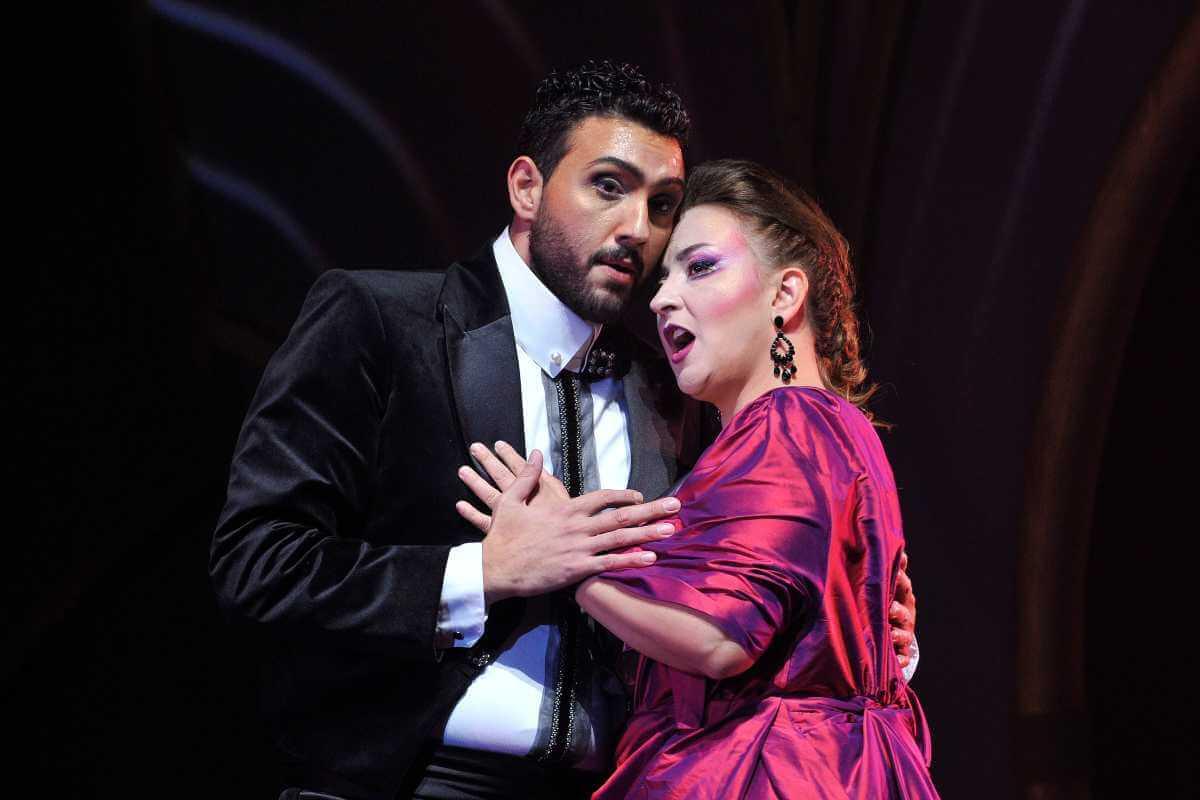 Rocco Rupolo et Marianne Fiset, La Traviata, Opéra de Québec, 19 octobre 2019. (Photo: courtoisie Opéra de Québec)