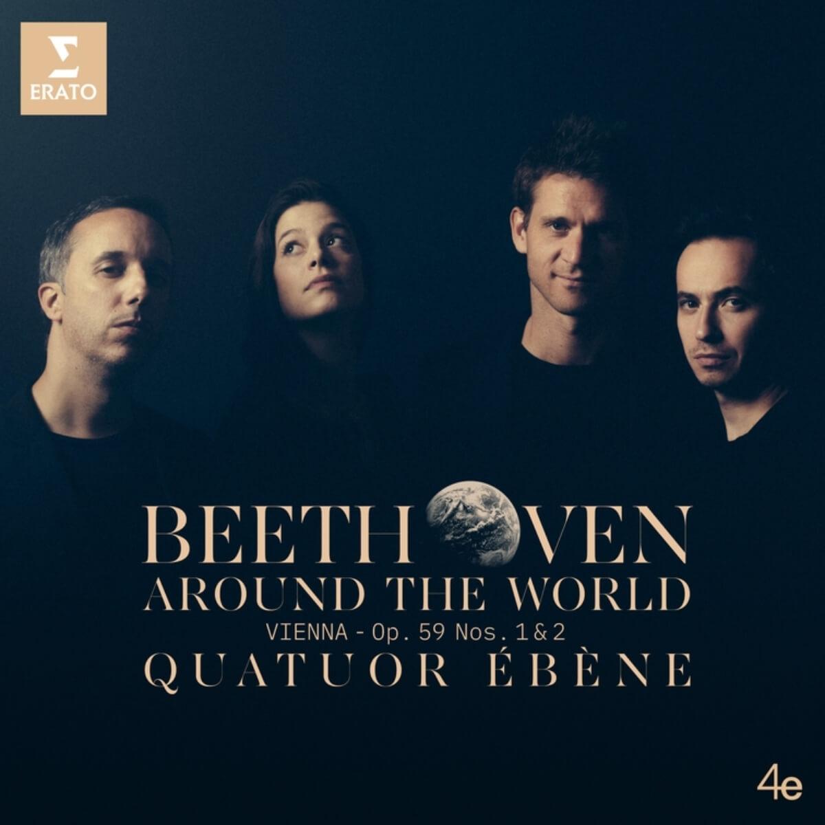 pochette de Beethoven Around the World du Quatuor Ébène