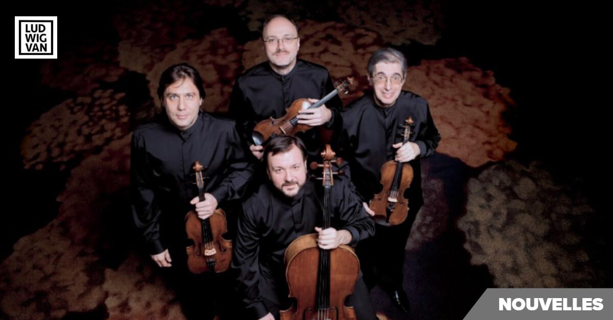 Quatuor Borodine, violoncelle, violon, alto (Photo : Simon Van Boxtel)