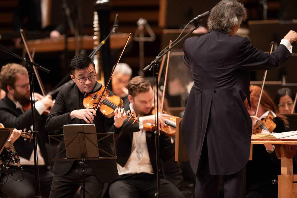 Andrew Wan, Kent Nagano, OSM, 27 novembre 2019. (Photo: Antoine Saito)