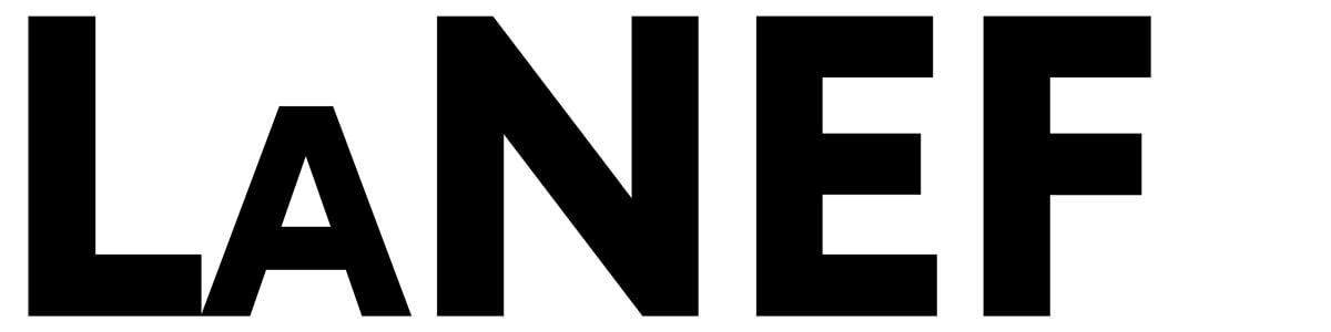 Logo La Nef noir sur blanc