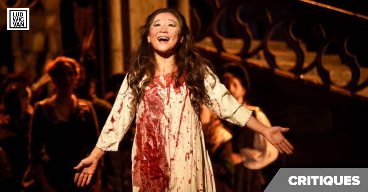 Kathleen Kim dans Lucia di Lammermoor, Opéra de Montréal, novembre 2019 (Photo : Yves Renaud)